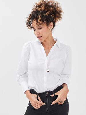 Chemise manches longues ecru femme