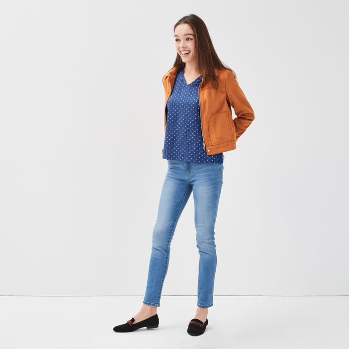Jeans slim denim double stone femme