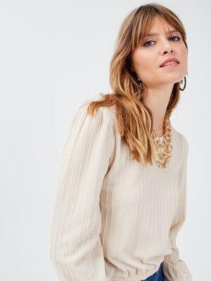 T shirt manches longues sable femme