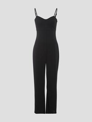 Combinaison pantalon ajustee noir femme