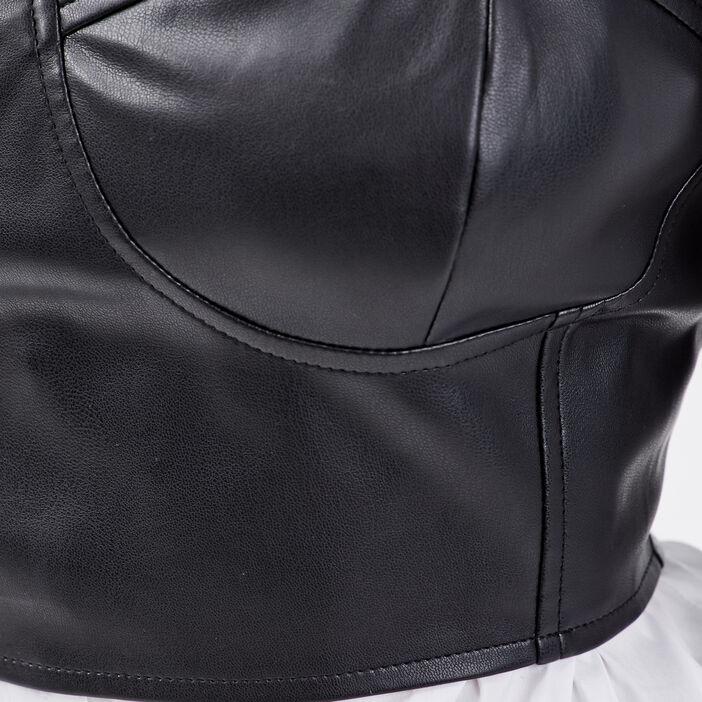 Bustier bretelles larges noir femme