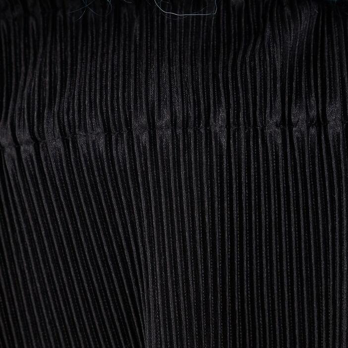 Pantalon ample plissé noir femme