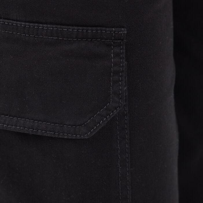 Pantalon cargo lien à coulisse noir femme