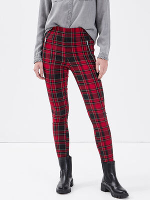 Jeggings taille haute rouge femme