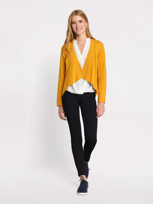 Jeans slim taille haute delave denim brut femme