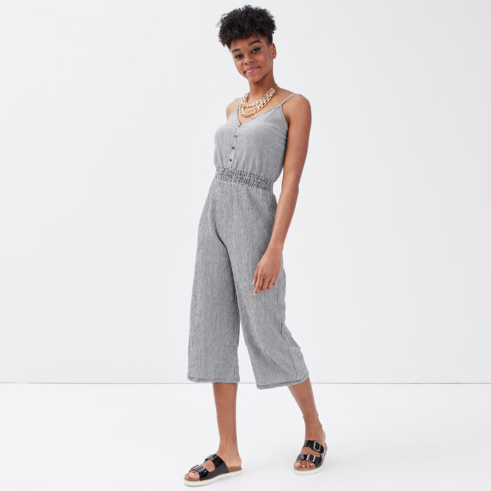 Combinaison pantalon 7/8ème blanc femme