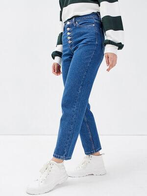 Jeans regular boutonne 78eme denim double stone femme
