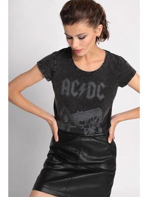 T shirt ACDC gris femme