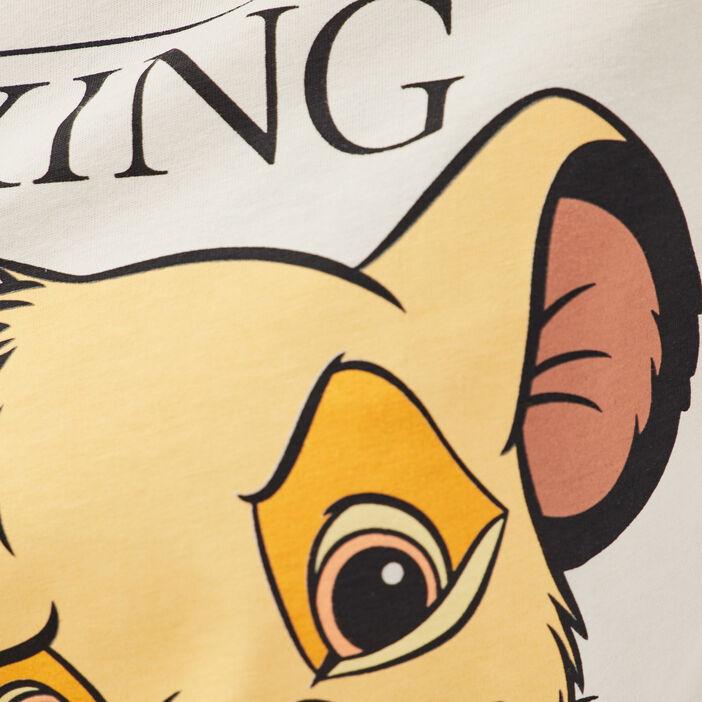 T-shirt Le Roi lion ecru femme