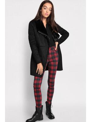 Manteau cintre zippe noir femme