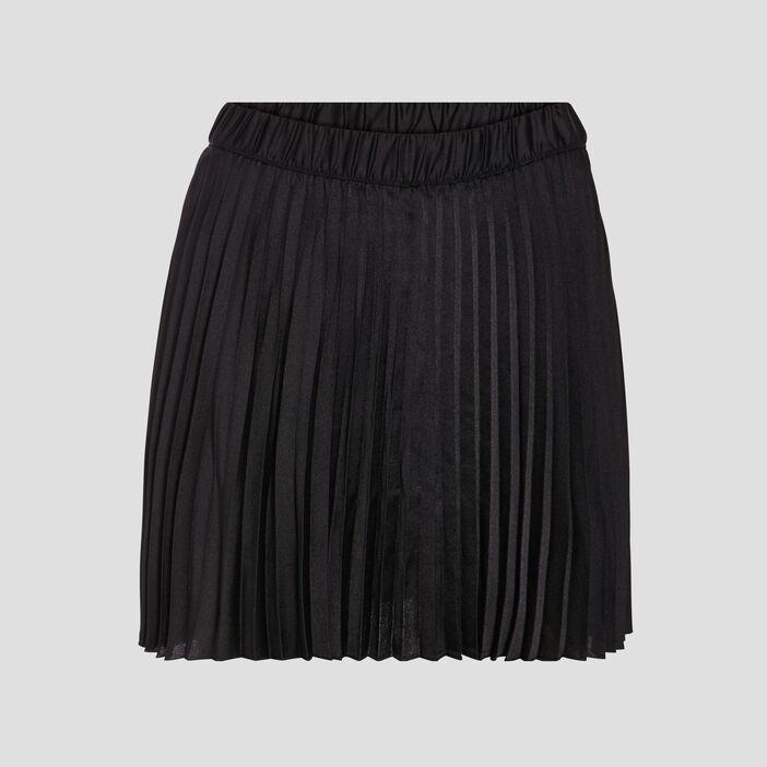 Jupe évasée plissée noir femme