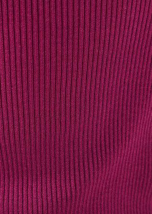 Pull debardeur cotele violet fonce femme