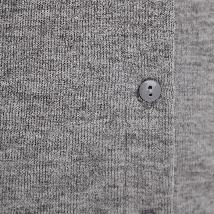 Gilet court boutonné gris clair femme