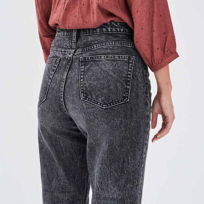 Jeans regular 7/8ème denim gris femme