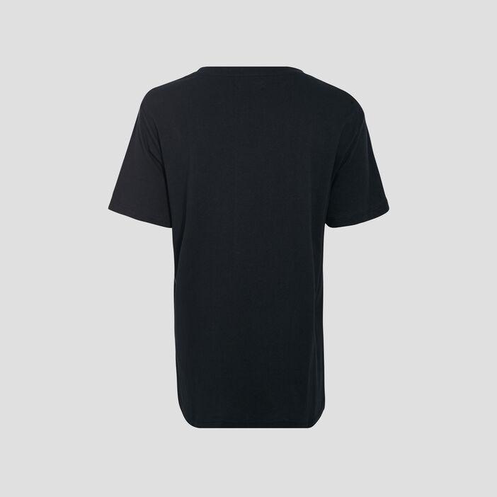 T-shirt large à message noir femme
