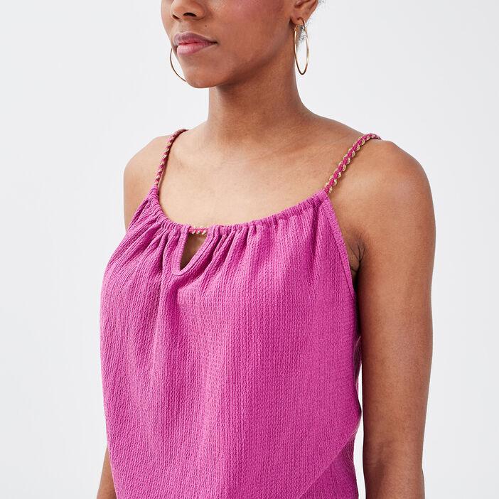 Débardeur bretelles fines violet clair femme