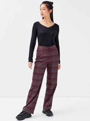Pantalon slouchy rouge femme
