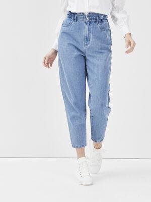Jeans slouchy elastique denim stone femme