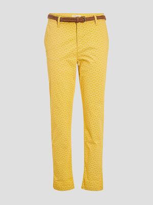 Pantalon chino 78eme jaune femme