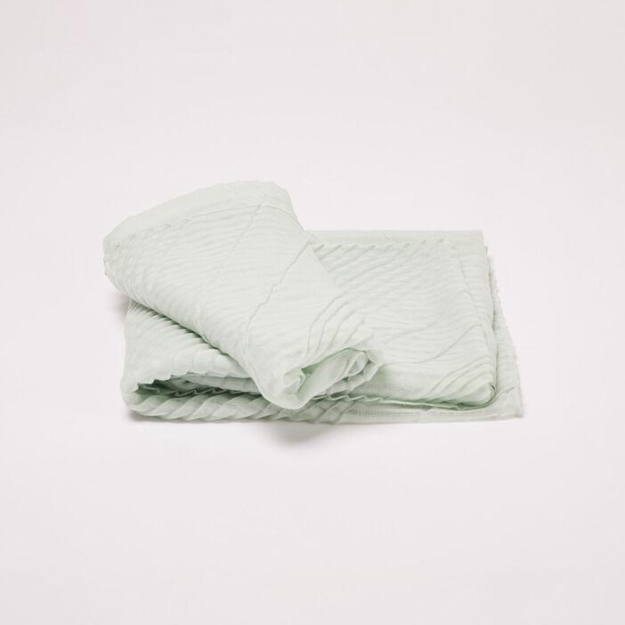Foulard plissé vert clair femme
