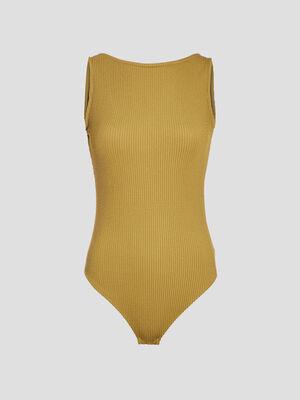 Body sans manches vert olive femme
