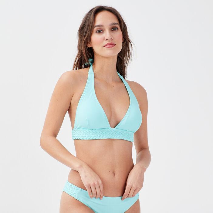 Haut de maillot de bain vert turquoise femme