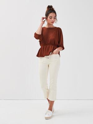 Jeans bootcut 78eme ecru femme