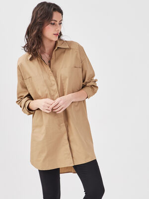 Chemise manches longues vert olive femme