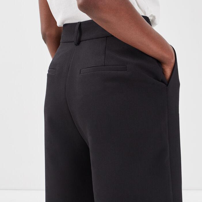 Bermuda city avec pinces noir femme