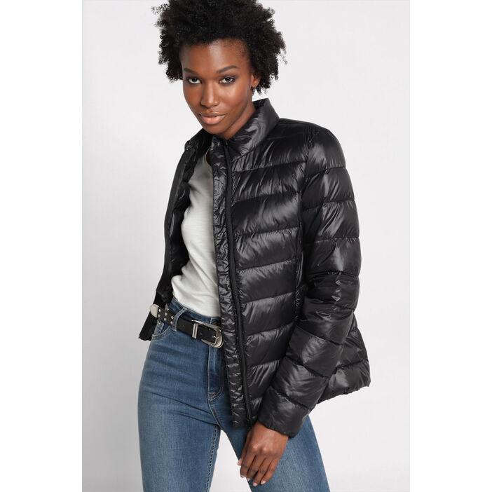 mieux aimé moderne et élégant à la mode acheter mieux Doudoune cintrée col montant noir femme | Vib's