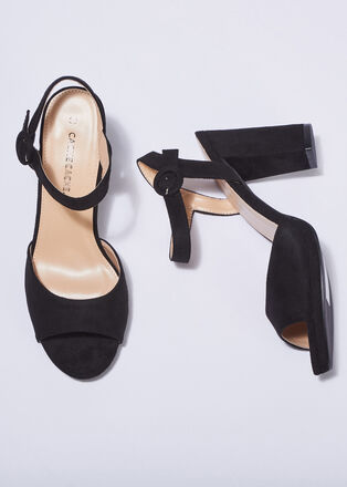 Sandales a talons noir femme