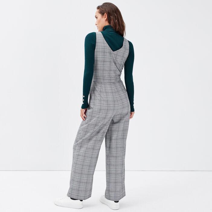 Combinaison pantalon droite gris femme