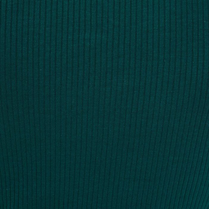 T-shirt maille côtelée vert foncé femme