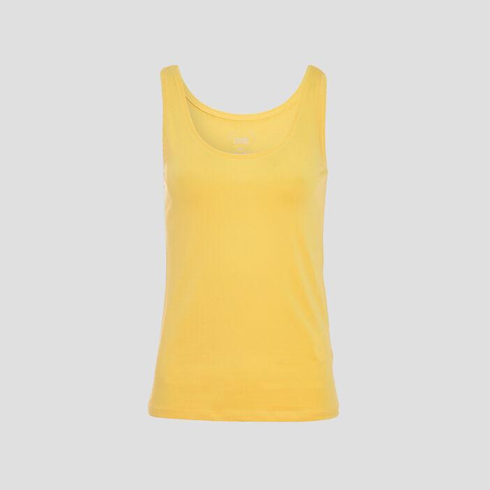 Débardeur bretelles larges jaune femme