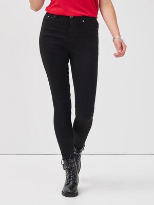 Jeans skinny 5 poches denim noir femme