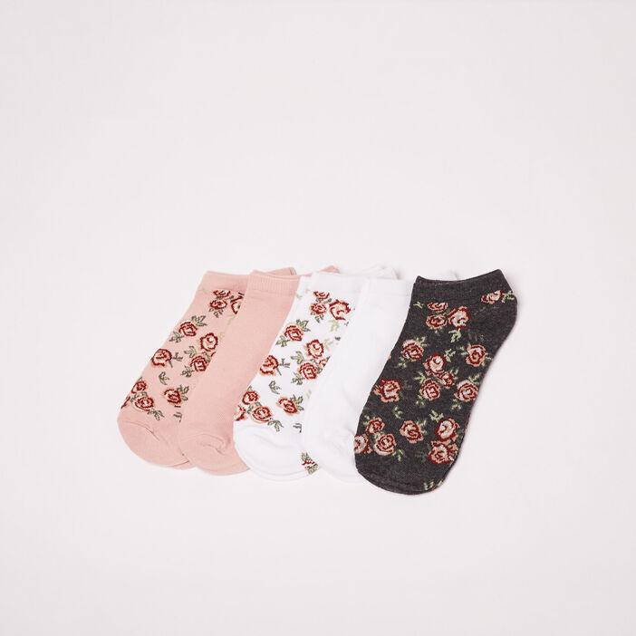 Lot 5 paires socquettes rose pastel femme