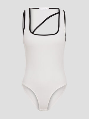 Body bretelles larges blanc femme
