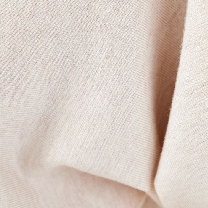 Pull avec col zippé sable femme