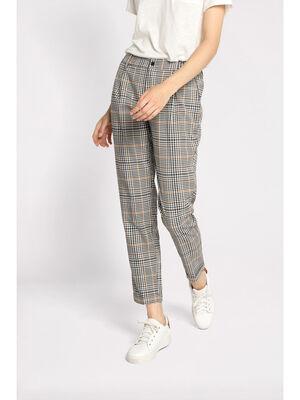 Pantalon carotte blanc femme
