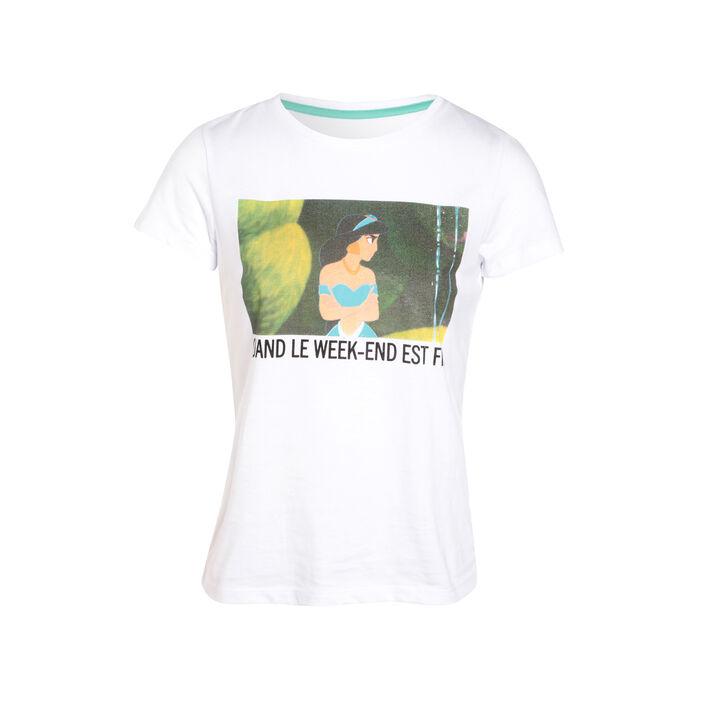 T-shirt Jasmine blanc femme