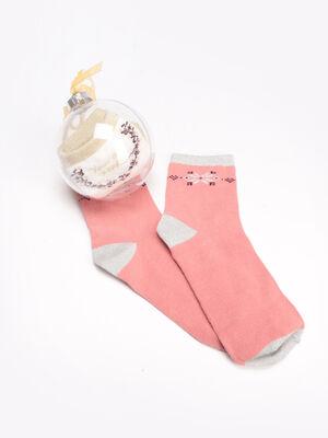 Lot 2 paires chaussettes rose femme