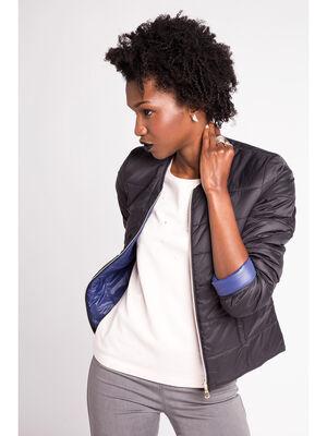 Doudoune fine reversible noir femme