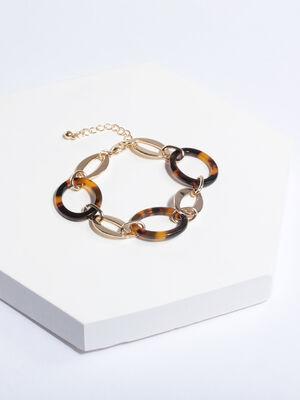 Bracelet a maillons couleur or femme
