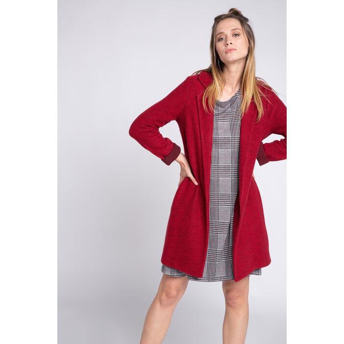 footwear first look finest selection Manteau long maille légère rouge femme | Vib's