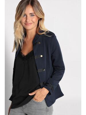 Veste blazer officier boutons bleu marine femme