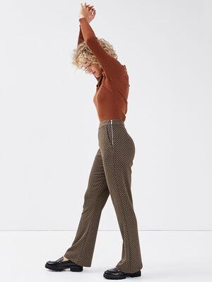 Pantalon bootcut noir femme