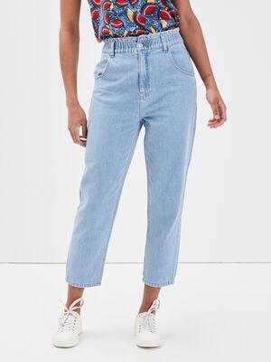 Jeans mom elastique 78eme denim bleach femme
