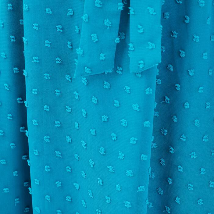 Robe longue évasée vert turquoise femme
