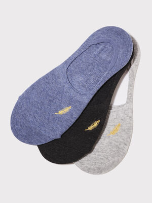 Lot 3 paires proteges bas gris fonce femme