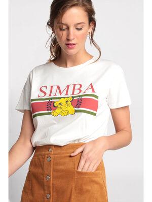 T shirt simba ecru femme